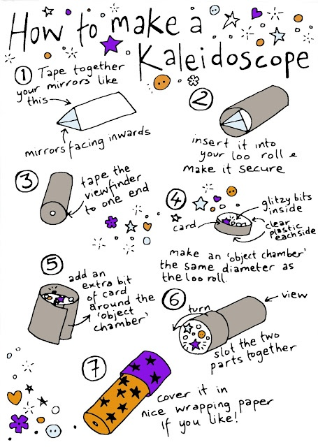 How to make a Kaleidoscope great idea for a summer project :)