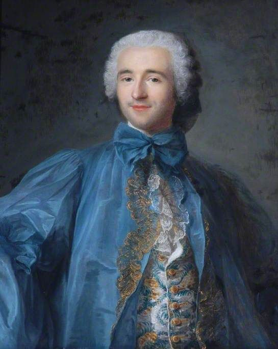 Portrait of a Man 'en robe de chambre' by Louis Tocqué