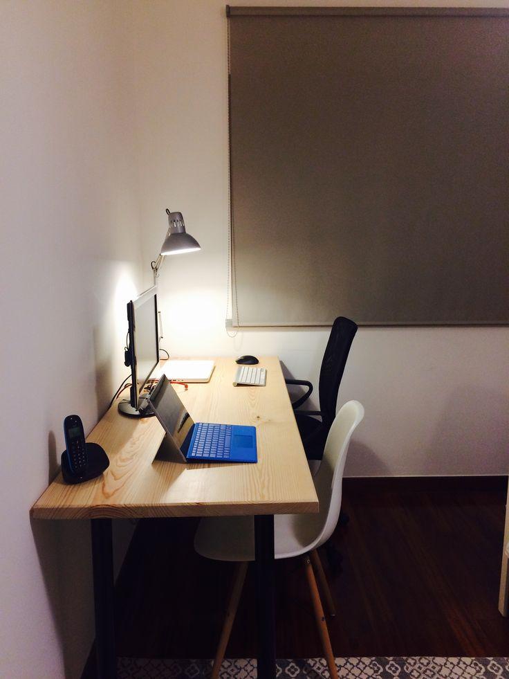 Wood home desk