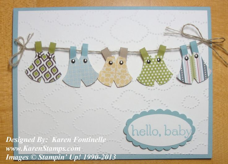 Attractive Baby Card Making Ideas Part - 7: Owl-Punch-Baby-Boy-Card Stampin Up