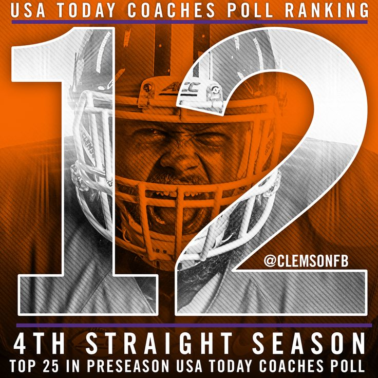 Clemson Football || Preseason Ranking Graphic on Behance
