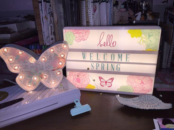 Loving my Heidi Swapp Lightbox & Marquee' butterfly :)
