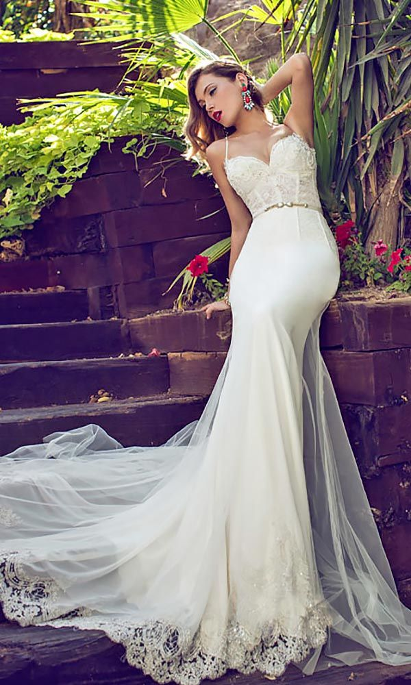 30 Gorgeous Wedding Dresses With Amazing Train ❤ See more: http://www.weddingforward.com/wedding-dresses-with-train/ #weddings #dress