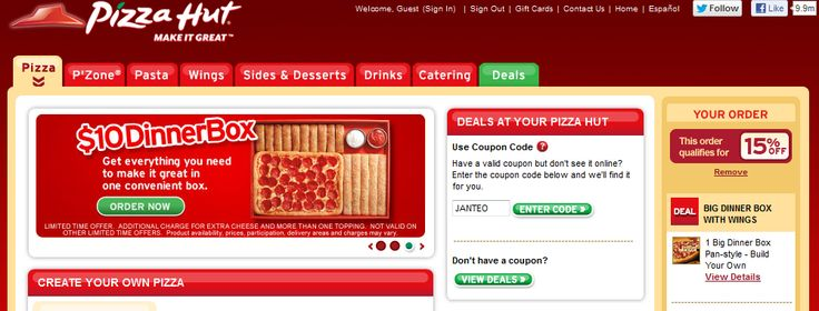 Pizza hut coupons 5 off 20