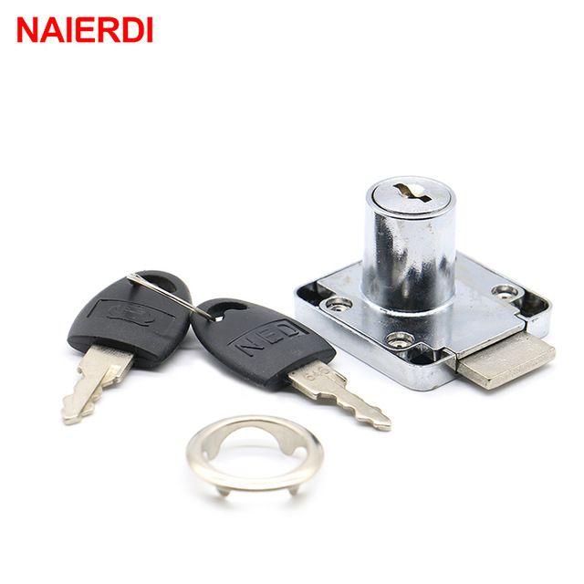 Naierdi 12pcs Ned 138 Furniture Drawer Locks Diameter 22 32mm