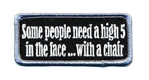 Embroidered Iron On Patch - Some People Need A High 5 To ... https://www.amazon.com/dp/B01FWJOJS2/ref=cm_sw_r_pi_dp_x_ioywybQMD2SWK  #irononpatch #Motorcyclepatch #embroideredpatch #motorcyclegear #bikergear #bikerpatch #highfive #punching #asskicking