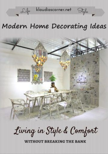 Modern Home Decorating Ideas - Have you been looking around your home lately and thinking that you could do with some changes? Maybe your living room isn't as comfortable as it could be, or your kitchen is a little dingy. Here are some tips on how to modernize and update your home without breaking the bank.