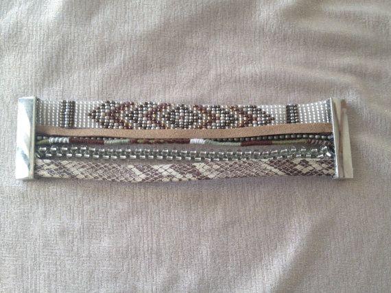 Bracelet manchette multirangs bresilien en par shadelcreation