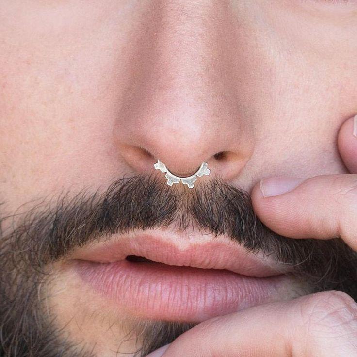 Septum Jewelry Silver Septum Ring Septum Men Unique Septum