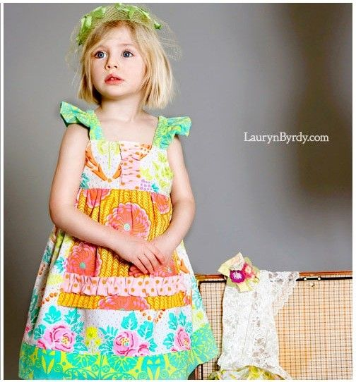 Granny's Attic Collection  Millie Apron dress by LottieDaBaby, $48.00