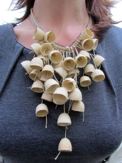 Necklace from cocoons / Silk cocoons.. $65.00, via Etsy.