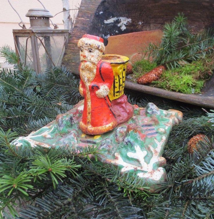 alter Christbaumständer Nikolaus Weihnachtsbaumständer Gusseisen | eBay