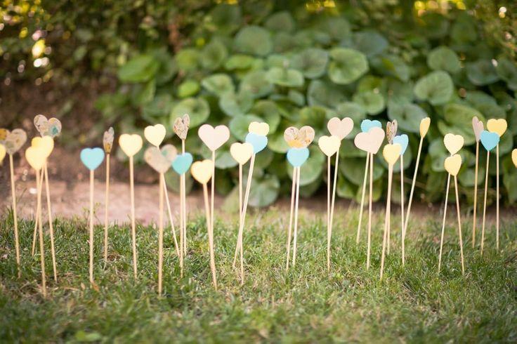 Lauren's gorgeous DIY paper hearts @ Lauren & Wade's Wedding, Chateau Dore Winery