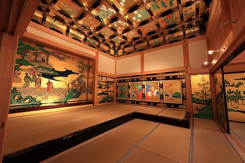 Beautiful interior of the Jumamoto-jo castle #ConflictofPinterest Palace / 本丸御殿(ほんまるごてん) by TANAKA Juuyoh (田中十洋)
