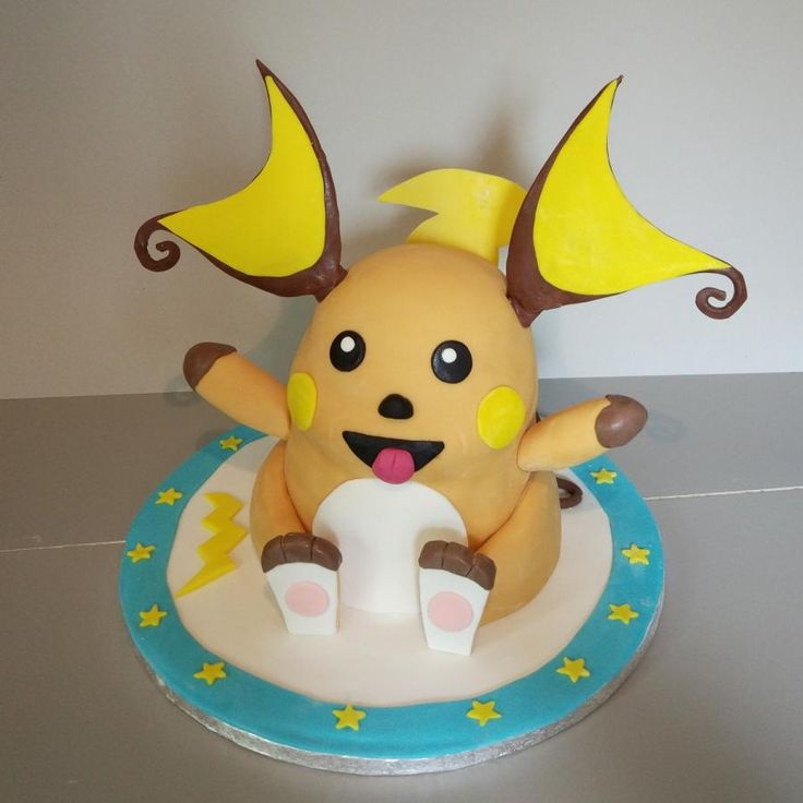 Raichu 3D - Cake by nef_cake_deco
