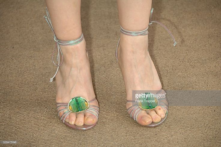 News Photo : Detail of actress Julie Delpy's footwear as she...