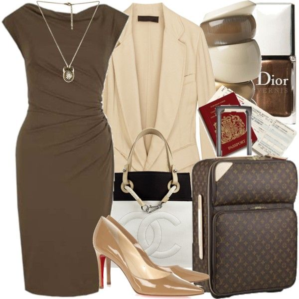 business trip, created by manicurelover on Polyvore