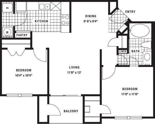 7421 On Frankford Floor Plans 7421 On Frankford Floor