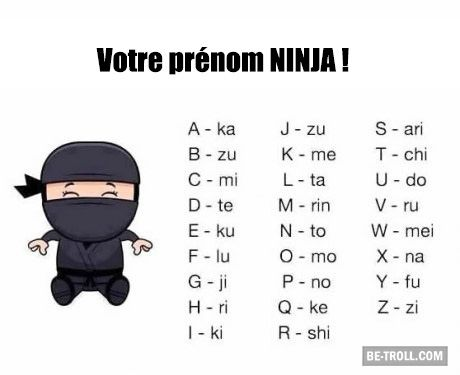 Votre prénom ninja !