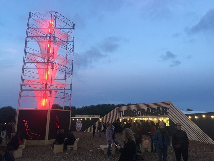 NorthSide 2016, Aarhus, Denmark - Tuborg Råbar Area around the scaffold light tower