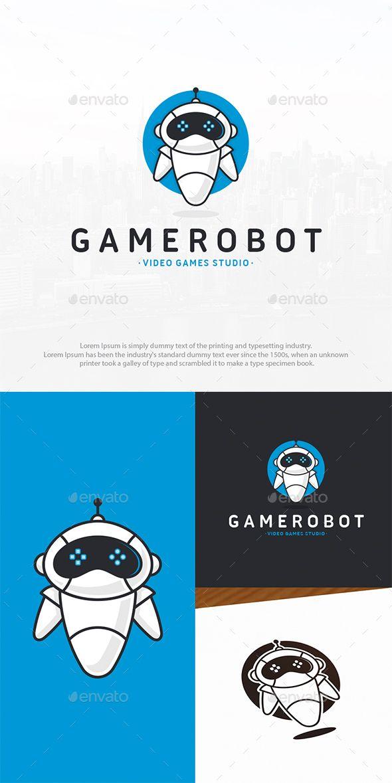 Robot Games Logo Template PSD, Vector EPS, AI Illustrator Logo