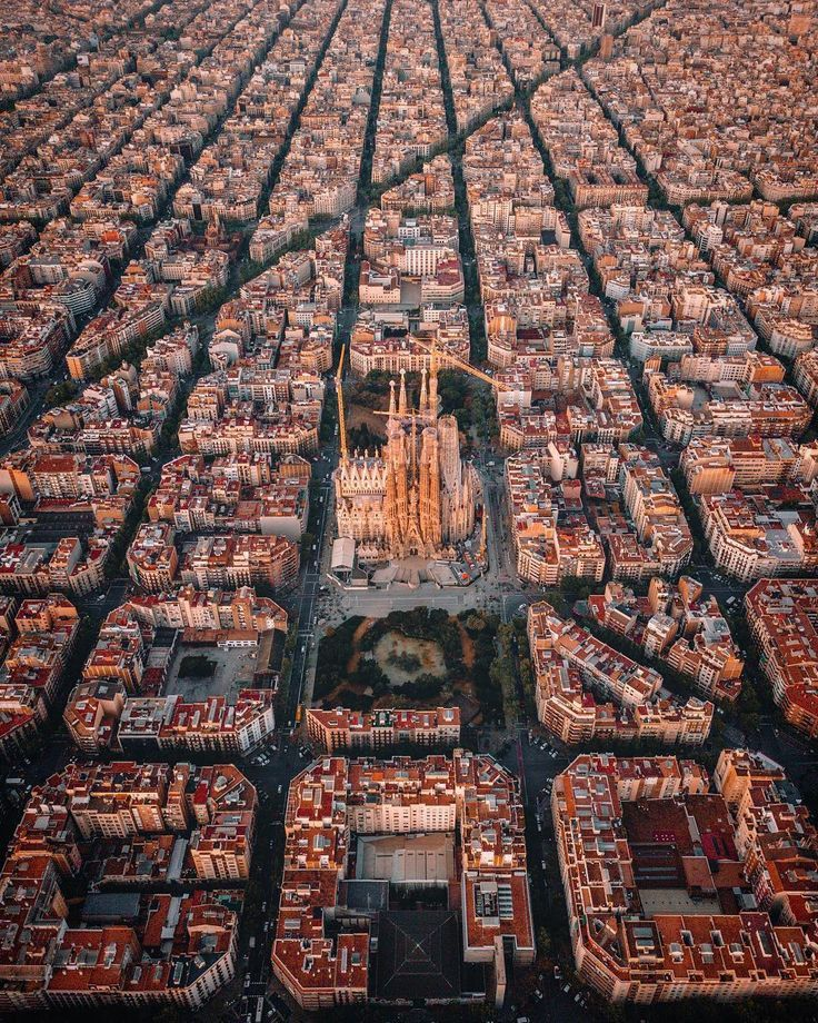 Barcelona From Above. Shot By @thetechcreative Located In