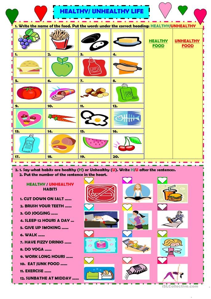 Healthy Unhealthy Life English Esl Worksheets For Distance Learning And Physical Classroo In 2021 Healthy And Unhealthy Food Unhealthy Food Delicious Healthy Recipes Unhealthy food worksheet for