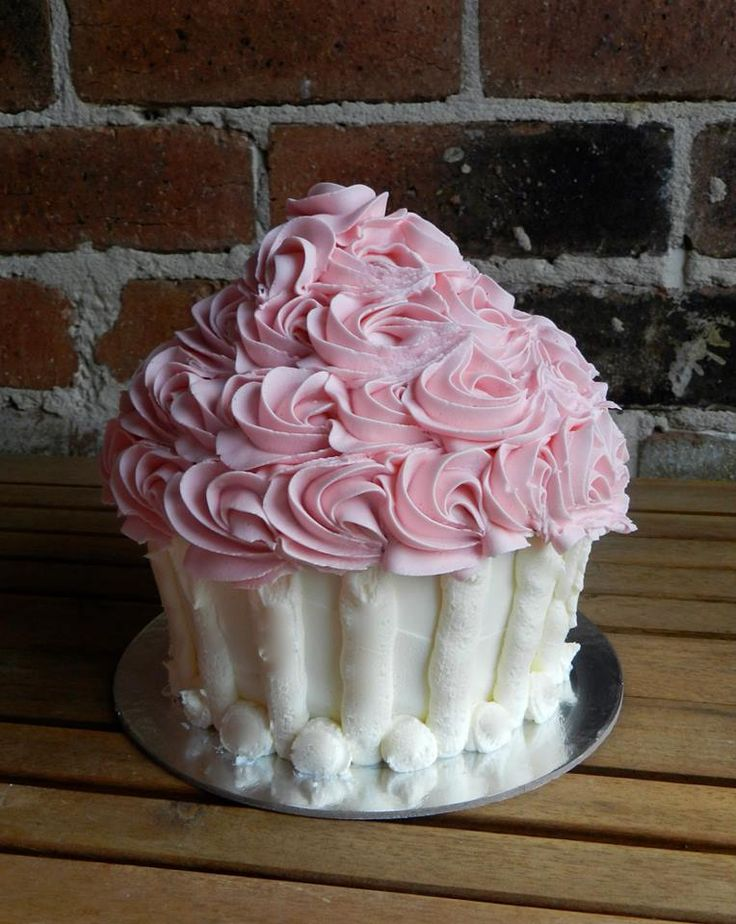 Giant Cupcake great for Cake Smash photos. Cakes by Buds n Roses