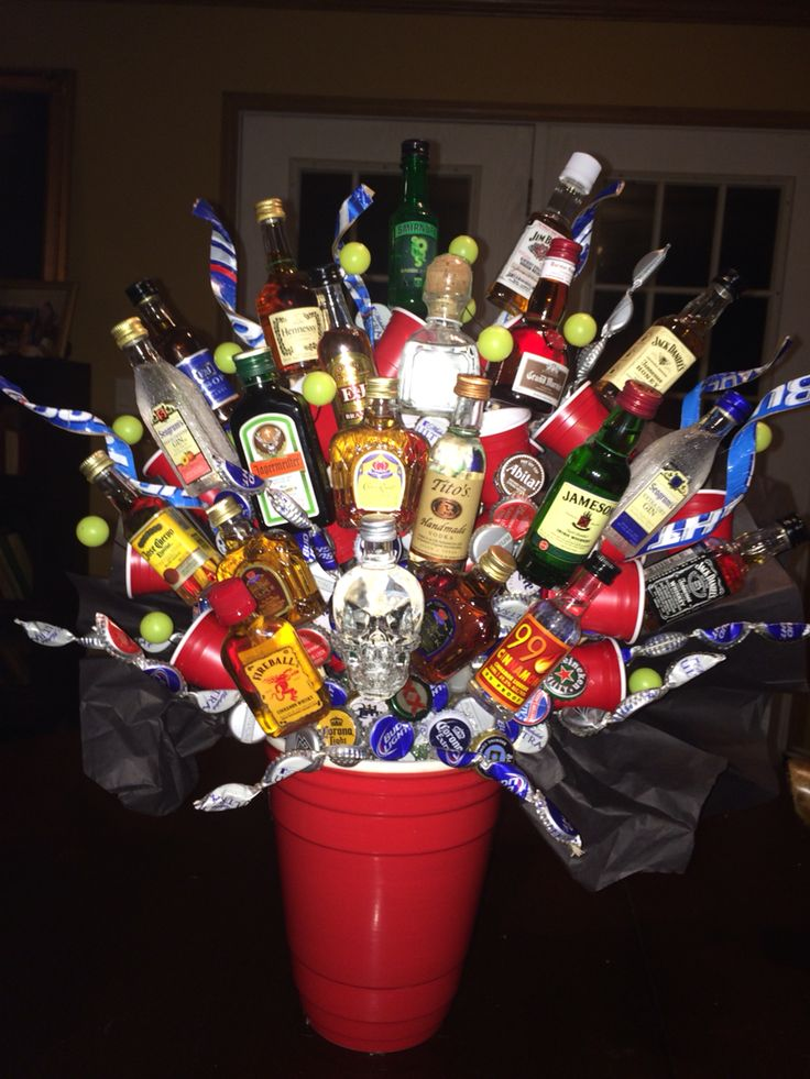 21st Birthday Alcohol Bouquet Cute Gift Ideas