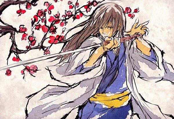 Gintama ~~ Blossoms and Katsura Kotaro