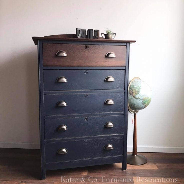 Coastal Blue Tall Dresser | General Finishes Design Center