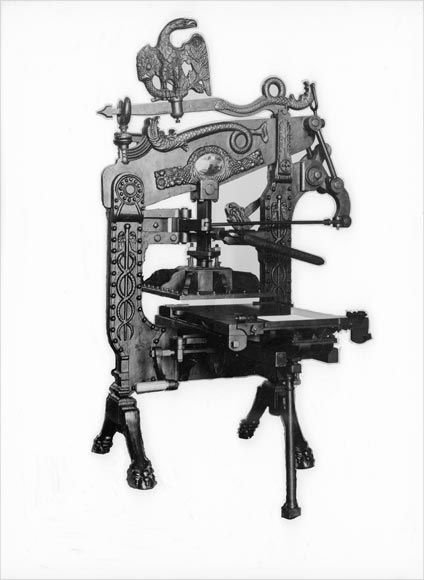William Colenso's printing press for use with tarore and her book topic, term 3