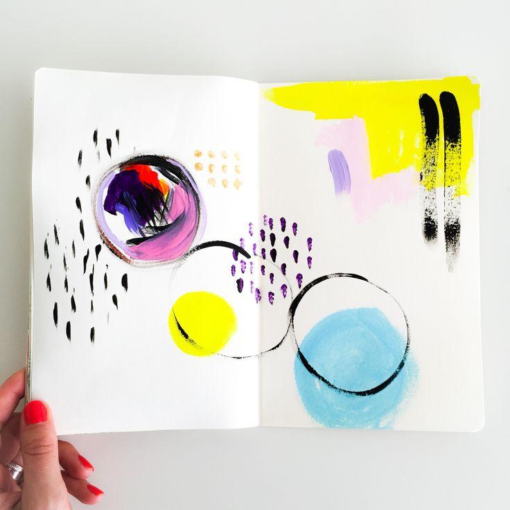 Elma de Jonge | art journal page Simpel maar mooi #artjournal #art #painting…