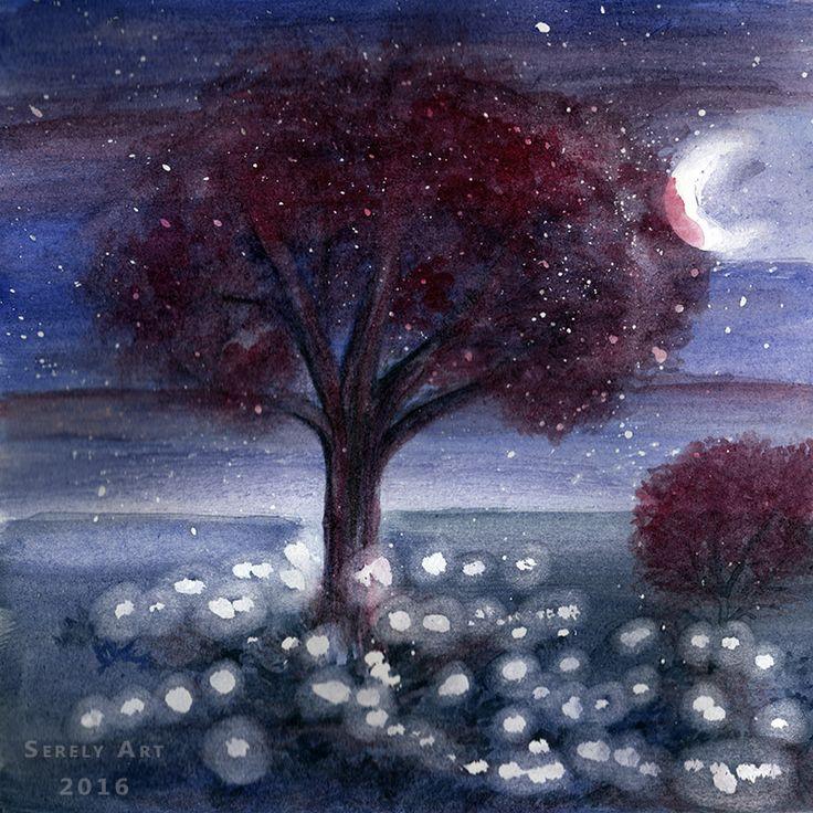Apparition fugace dans la nuit, l'arbre magique nous s'offre à nous comme un songe. Aperçu du lointain royaume des fées, le voilà qui s'éclaire et qui disparaitra lorsque l'…