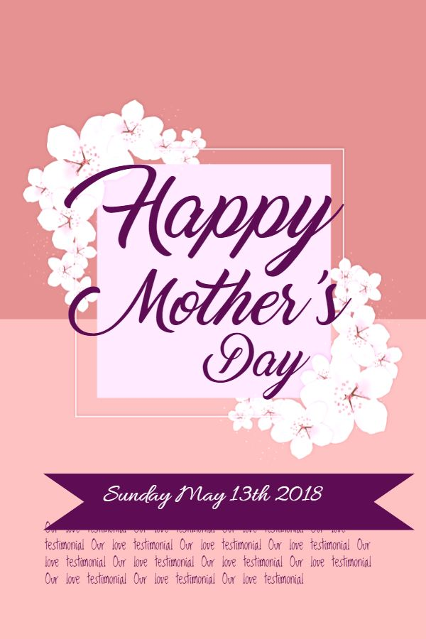 Elegant Mother S Day Flyer Poster Template Mothers Day Poster