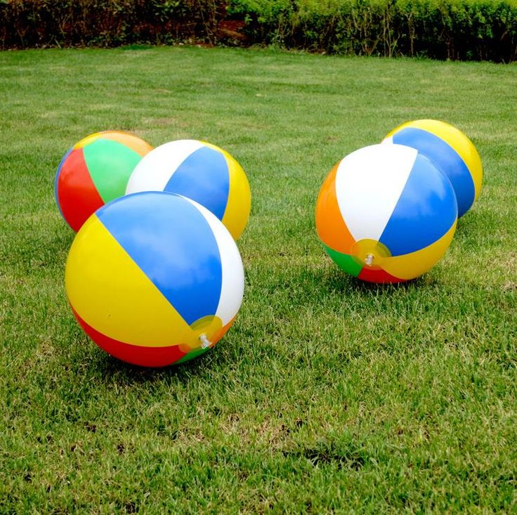 2016 New Colored Inflatable 23cm Ball Balloons Swimming Pool Play Party Water Game Balloons Beach Sport Ball  Kids Fun Toys