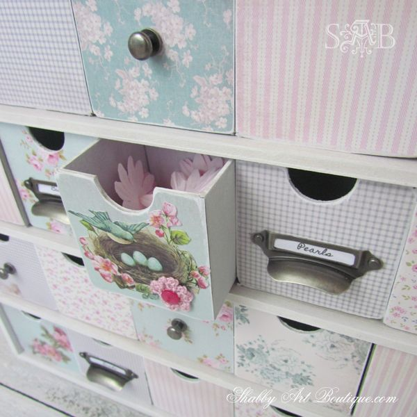 """I made this pretty storage box with 25 drawers to hold all my itty bitty scrapbooking embellishments..."" Prepare to fall in love!"