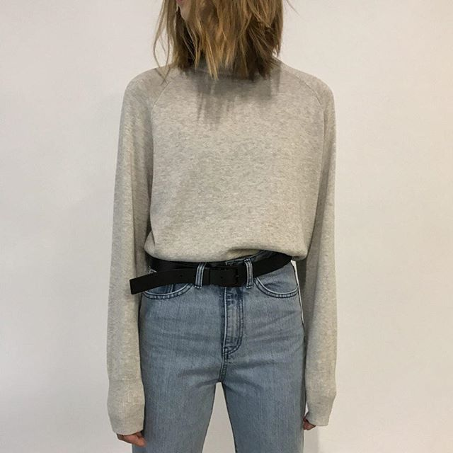 Our Boxing Day/Winter Sale is still on! Be sure to enjoy our deals online and in store.  Check www.oakandfort.ca/locations for extended store hours.  Sweater 1001  Belt 99049 Shop the look (link in bio) #BeOakandFort