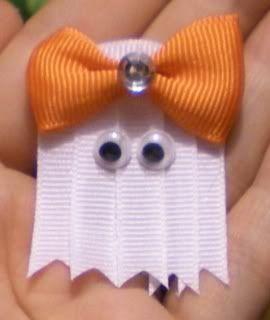 DIY ghost hair clip.