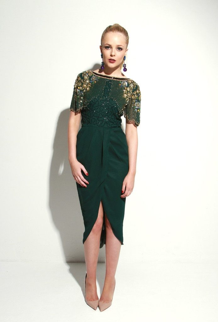 Nicola Green Dress by Virgos Lounge