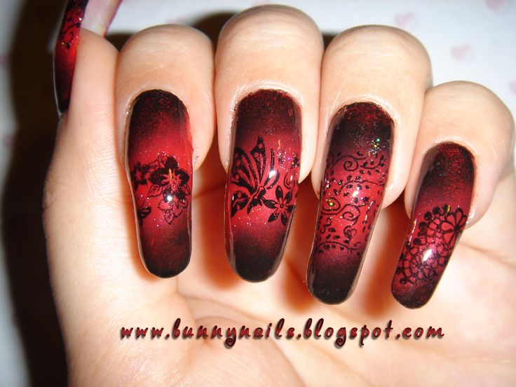 Best 25 red black nails ideas on pinterest polka dot nails diy red and black nails for you to try prinsesfo Gallery