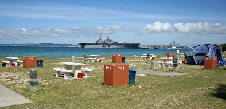 I've camped here! White Beach Okinawa,Japan