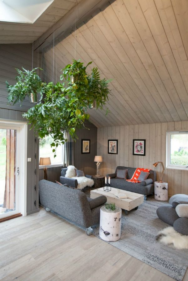 Living room with biophilic design elements by Oliver Heath