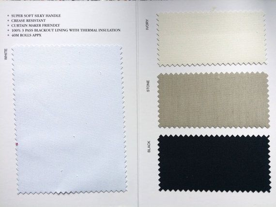 3 pass thermal blackout block out sunlight curtain lining fabric supplies wholesaler UK