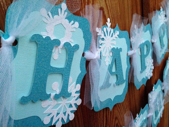 DIY Frozen birthday banner by CelebrationBanner on Etsy
