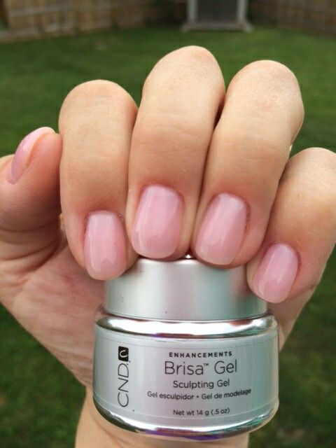 CND Brisa Gel nails by Red Hat Nails