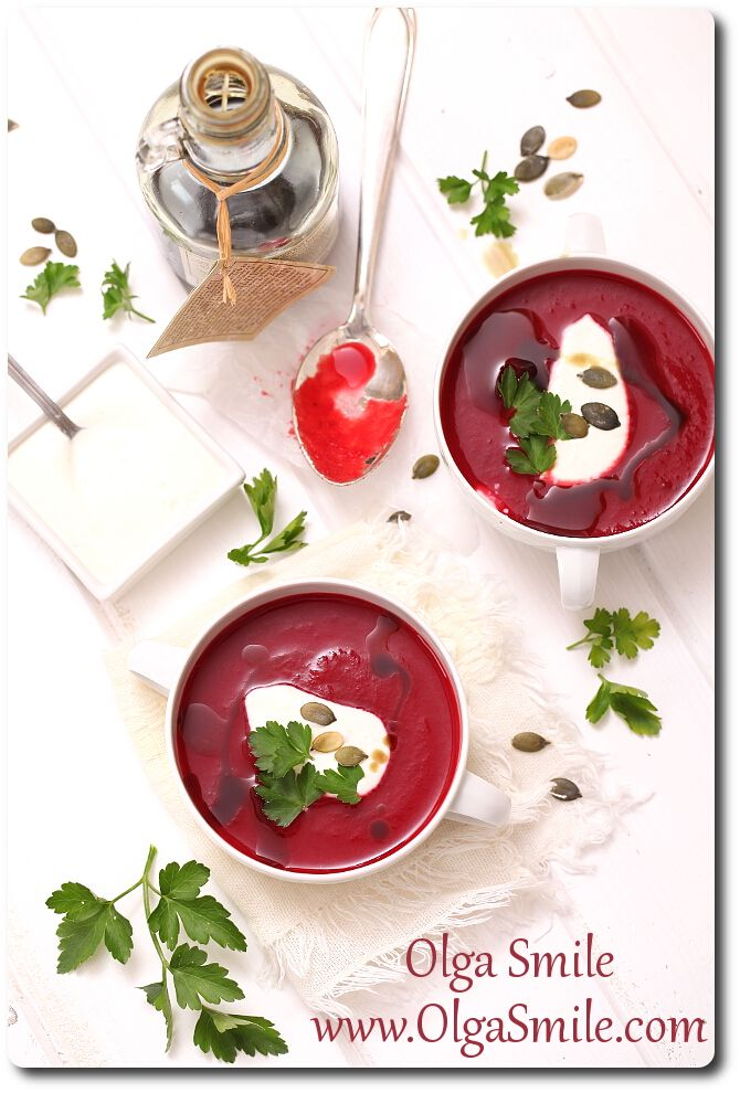 Zupa krem z buraków - przepis | Kulinarne przepisy Olgi Smile