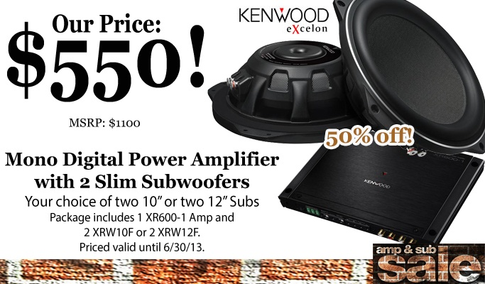 Up to 50% off select Amps & Subs during June!
