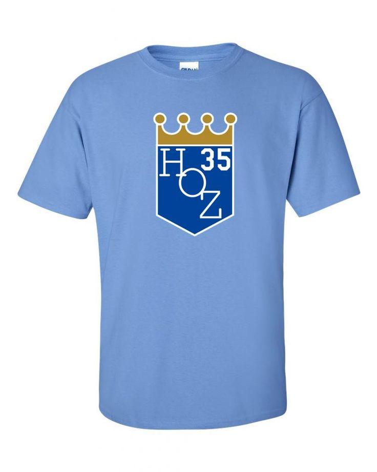 Custom eric hosmer hoz kansas city royals tshirt available for Custom shirts kansas city