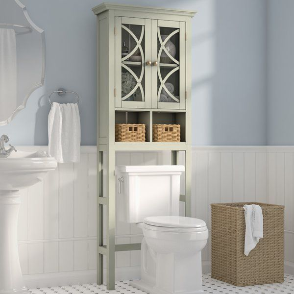 You'll love the Diane 24″ W x 68.3″ H Over The Toilet at Birch Lane – With G…   – bathrooms  ideals